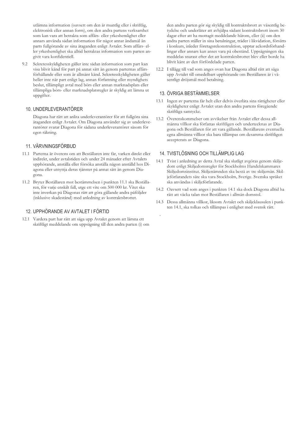 Allmänna villkor sida 2